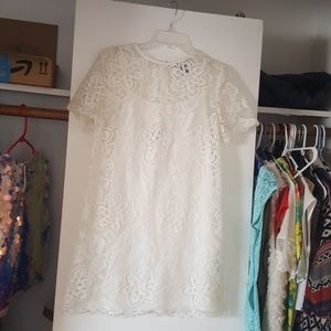 Short white lacy dress